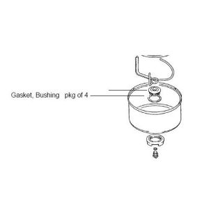 Bosch 047972 Gasket Stainless Steel Bowl Bushing 4/Pkg