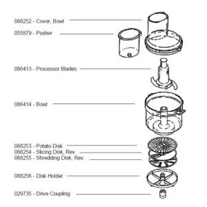Bosch 088255 Shredding Disk 6MM3 7MM2 4MM3