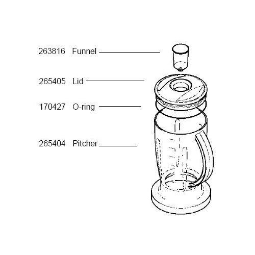 Bosch Blender - Bosch 170427 O-Ring Blender Lid MUZ7MX1