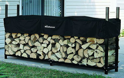 Alexander  96 WRC 96 WRC 8 Foot Woodhaven Firewood Rack With Cover