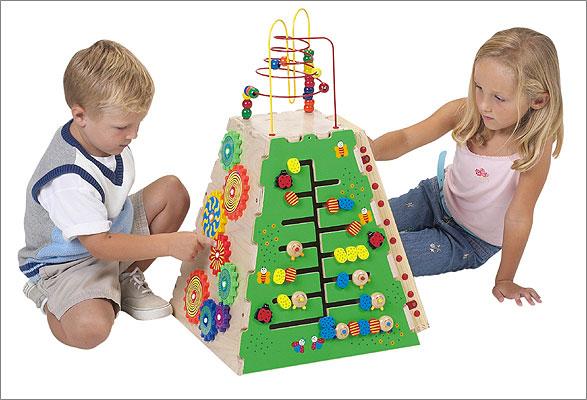 "Anatex PYR9000 18"" x 18"" x 27"" Pyramid of Play Activity Center"
