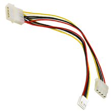 Cables To Go 03164 10in COMBO 5.25in-3.5in INTERNAL POWER Y-CABLE