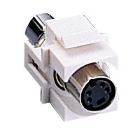 Cables To Go 03823 SNAP-IN S-VIDEO KEYSTONE MODULE WHITE