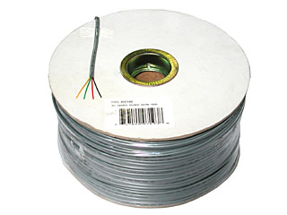 Cables To Go 07193 1000ft 4 CONDUCTOR SILVER SATIN MODULAR 28AWG CABLE REEL