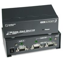 39967 2-PORT UXGA MONITOR SPLITTER-EXTENDER with AUDIO