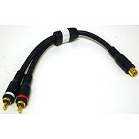 Cables To Go 29122 VELOCITY RCA JACK-RCA PLUG x2 ADAPTER Y-CABLE
