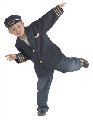 BRAND NEW WORLD BNWCAP100 DRAMATIC DRESS UPS COMMUNITY HELPE-R COSTUMES AIRLINE PILOT