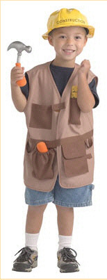 BRAND NEW WORLD BNWCCW102 DRAMATIC DRESS UPS COMMUNITY HELPE-R COSTUMES CONSTRUCTION WORKER