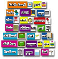 CARSON DELLOSA CD-3266 BB SET PRINT-RICH CLASSROOM LABELS-56 ILLUSTRATED WORD CARDS
