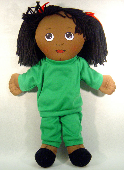 Sweat Suits - FANNYS PLAY HOUSE FPH733 DOLLS BLACK GIRL DOLL-SWEAT SUIT