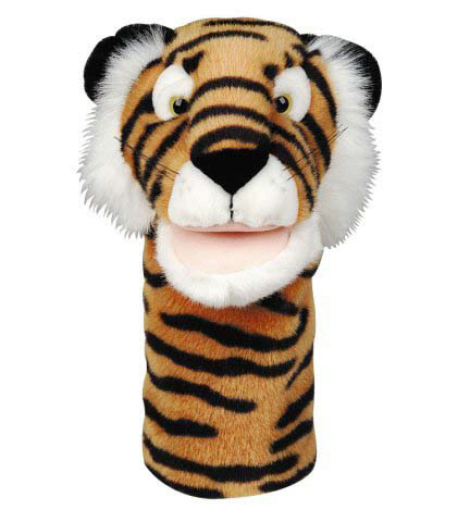 MT & B CORPORATION MTB206 PLUSHPUPS HAND PUPPET TIGER