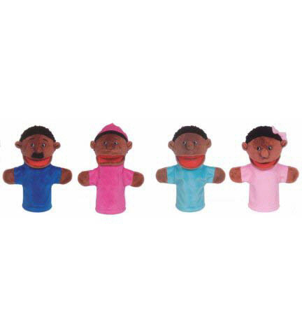 MT & B CORPORATION MTB360 FAMILY BIGMOUTH PUPPETS AFRICAN A-ERICAN FAMILY OF 4