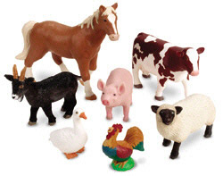 LEARNING RESOURCES LER0694 JUMBO FARM ANIMALS EDRE2780