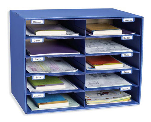 PACON CORPORATION PAC1309 MAIL BOX - 10 MAIL SLOTS BLUE