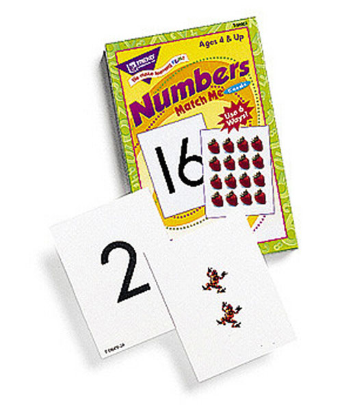 TREND ENTERPRISES T-58002 MATCH ME CARDS NUMBERS 0-25-52 TWO-SIDED CARDS/BOX AGES 4 & UP