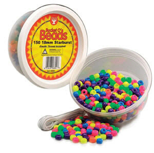 HYGLOSS PRODUCTS HYG6832 NEON BARREL BEADS