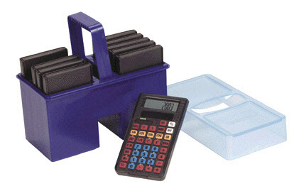 LEARNING RESOURCES LER0057 CALCULATOR CADDY WITH 10 STUDENT CA-LCULATORS