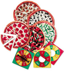 LEARNING RESOURCES LER5061 PIZZA FRACTION FUN JR. GAME