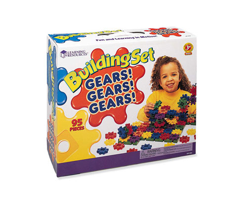 LEARNING RESOURCES LER9162 GEARS! BEGINNERS BUILDING SET-95 PIECES