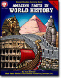 CARSON DELLOSA CD-1584 AMAZING FACTS IN WORLD HISTORY-GR. 5-8+