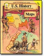 CARSON DELLOSA CD-1336 U.S. HISTORY MAPS GR 5-8-GR. 5-8+