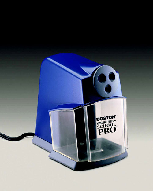 ELMERS - BORDEN HUN1670 PENCIL SHARPENER ELECTRIC-SCHOOL PRO BLUE-GRAY