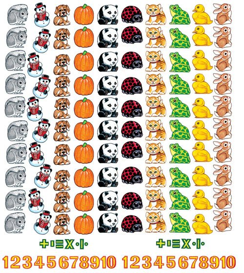 LITTLE FOLKS VISUALS LFV22101 BEGINNERS COUNTING FLANNELBOARD SE-T