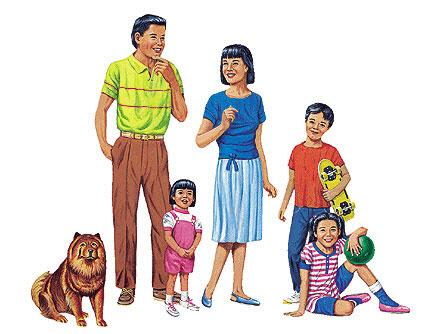 LITTLE FOLKS VISUALS LFV22211 MULTICULTURAL FAMILIES FLANNELBOARD-SET SET OF ALL 4 PRE-CUT