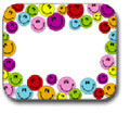 CARSON DELLOSA CD-9475 NAME TAGS MULTICOLORED SMILEY FACES-40/PK SELF-ADHESIVE