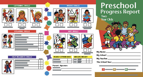 SCHOOL PUBLISHING  PROGRESS REPORTS PRESCHOOL 2 YEARS-10/PK 2 YEAR OLDS