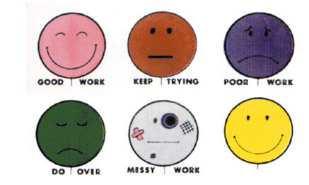 CENTER ENTERPRISES CE-090 GRADING STAMPS SMILE BALLOONS-6/PK