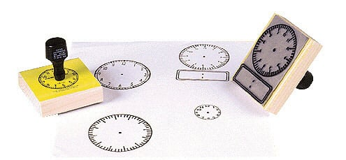 CENTER ENTERPRISES CE-101 STAMP LARGE CLOCK WITH NUMBERS-2-1/2 SQUARE