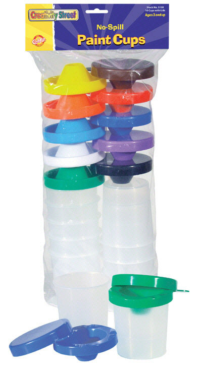 CHENILLE KRAFT COMPANY CK-5100 NO SPILL PAINT CUPS-10/PK DUAL LID STORAGE CUPS