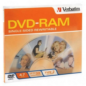 Verbatim 3x DVD-RAM Media 4.7GB 120mm Standard 95002