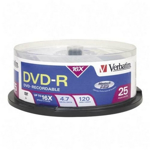 Verbatim 16x DVD-R Media 4.7GB 120mm Standard 95058
