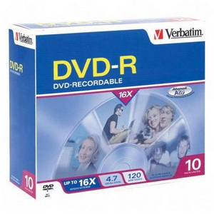 Verbatim 16x DVD-R Media 4.7GB 120mm Standard 95099