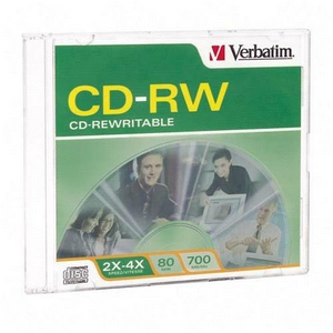 Verbatim 4x CD-RW Media 700MB 120mm Standard 95117