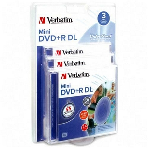 Verbatim 2.4x DVD+R Double Layer Media 2.6GB 80mm Mini 95313