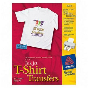 Avery Dennison T-Shirt Transfers Letter 8.5 Inch x 11 Inch Matte 18 Transfers Iron-on Transfer 8938