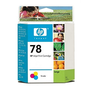HP 78 Tri-color Ink Cartridge 970 Page Cyan  Magenta  Yellow Package: 1 C6578AN