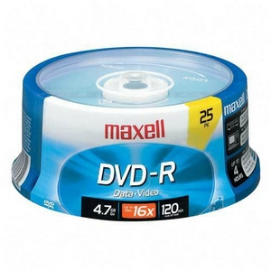 Maxell 16x DVD-R Media 4.7GB 120mm Standard 638010