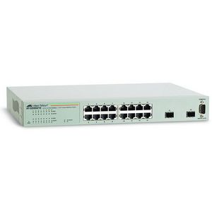 Allied Telesyn AT-GS950-16 16 Port Gigabit WebSmart Switch 16 x 10-100-1000Base-T LAN 2 x SFP Managed Ethernet Switch AT-GS950-16-10