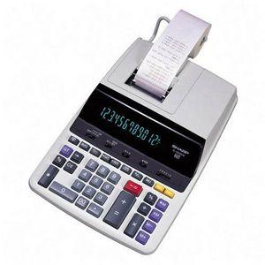 Sharp 12 Digit Commercial Printing Calculator 12 Characters Fluorescent Power Adapter EL2630PIII
