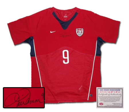 Authentic Jerseys - Mia Hamm Hand Signed Authentic Style USA Red Jersey
