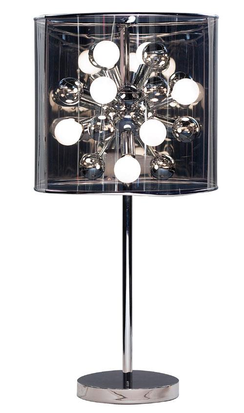Adesso 3260 Starburst Table Lamp Steel 22