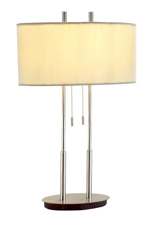 Duet Table Lamp Satin Steel 22