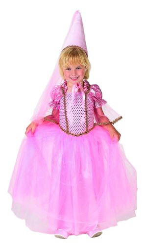 Dress Hats - Aeromax PCPNK-46-Princess Dress With Hat Size 4/6 Pink