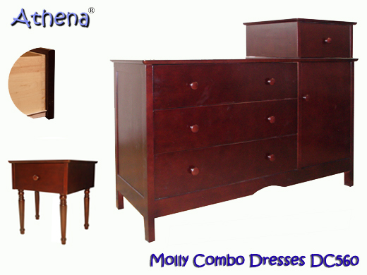 AFG Athena Molly Combo Dresser - Cherry - DC560C