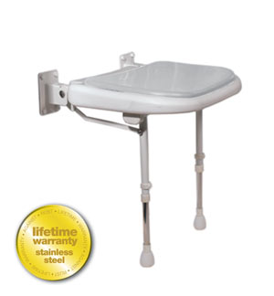 ARC Inc 04270P 4000 Series Shower Seat Padded - Gray - 18.125 Inch W