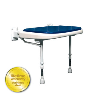 ARC Inc 04110P 4000 Series Shower Seat Wide Padded - Blue - 23 Inch W